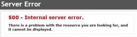 内部服务器错误截图