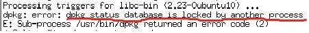 dpkg error info